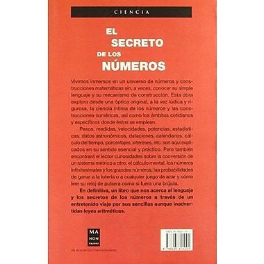 El secreto de los numeros, Used Book (9788495601001)