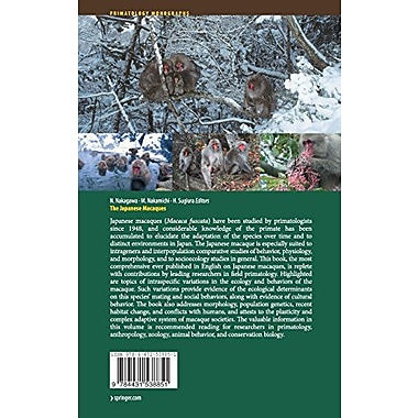 The Japanese Macaques (Primatology Monographs), Used Book (9784431538851)