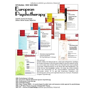 European Psychotherapy Vol. 8, New Book (9783932096631)