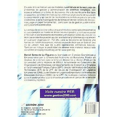 Metodos Cuantitativos Para La Toma de Decisiones (Spanish Edition), New Book (9788480889407)