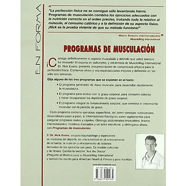 Programas de musculacion / Men's Body Sculpting (Spanish Edition), New Book (9788479024932)