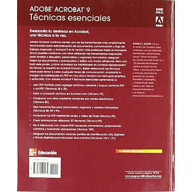 Adobe Acrobat 9 Tecnicas Esenciales (Spanish Edition), Used Book (9786071502131)