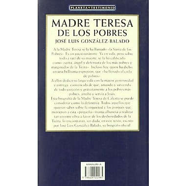 Madre Teresa de los Pobres (Planeta Testimonio) (Spanish Edition), Used Book (9788408022985)