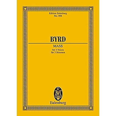 MASS FOR 3 VOICES STB CHORAL SCORE, Used Book (9783795766047)