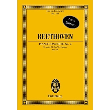 Piano Concerto No. 4, Op. 58 in G Major for Piano and Orchestra, New Book (9783795766221)