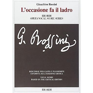 L'Occasione Fa Il Ladro Vocal Score Based On Critical Edition, New Book (9788875927813)