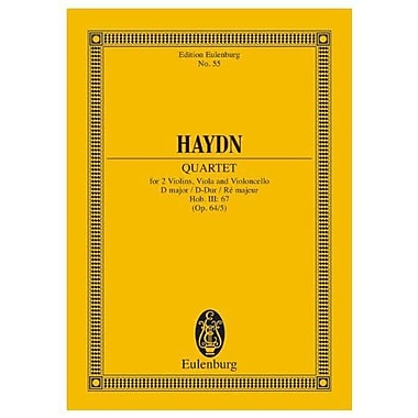 String Quartet Op64/5 D Major Hob Iii:67 Study Score, New Book (9783795768348)