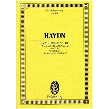 SYMPHONY NO.103 E FLAT MAJOR HOB.I:103 DRUM ROLL PAUKENWIRBEL-SINFONIE STUDY SCORE (Edition Eulenburg) (9783795769406)