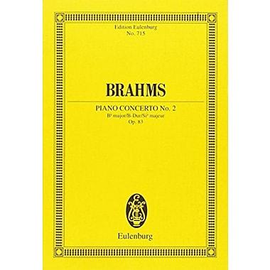 PIANO CONCERTO NO2 OP83 B FLAT MAJOR STUDY SCORE (Edition Eulenburg), New Book (9783795767334)