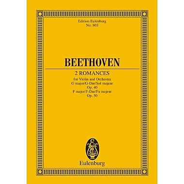 2 ROMANCES FOR VIOLIN AND ORCHESTRA G MAJOR OP.40 F MAJOR OP.50 STUDY SCORE (9783795769031)