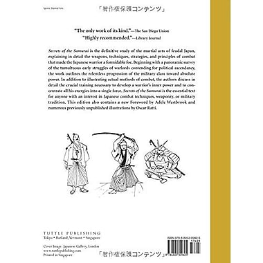Secrets of the Samurai: The Martial Arts of Feudal Japan, New Book (9784805309605)