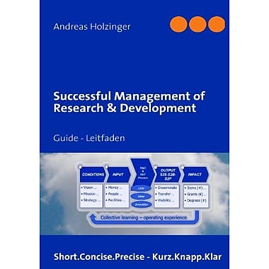Successful Management of Research & Development (9783839186732)