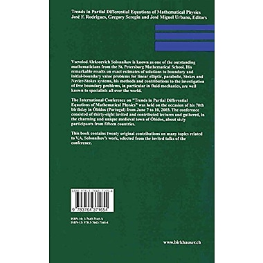 Trends in Partial Differential Equations of Mathematical Physics(Progress in Nonlinear Differential Eq, New Book (9783764371654)