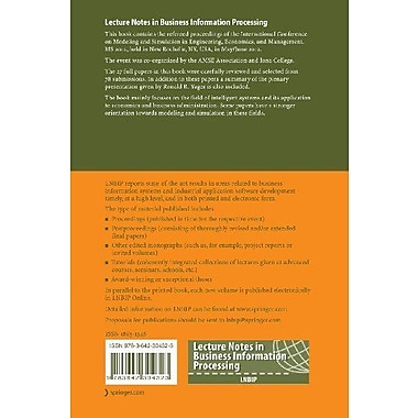 Modeling and Simulation in Engineering, Economics, and Management: International Conference, MS 2012, , New Book (9783642304323)