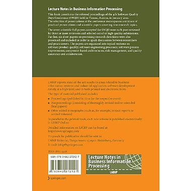 Software Quality: 4th International Conference, SWQD 2012, Vienna, Austria, January 17-19, 2012, Proc, Used Book (9783642272127)