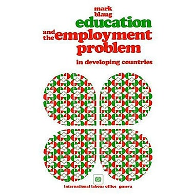 Education and the employment problem in developing countries, New Book (9789221010050)