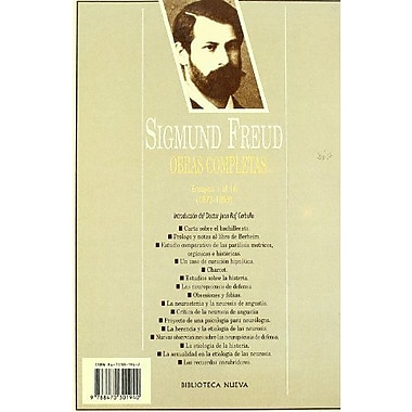 Sigmund Freud 1 - Obras Completas (Spanish Edition), New Book (9788470301940)