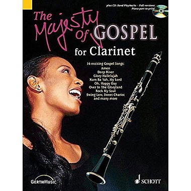 THE MAJESTY OF GOSPEL 16 GREAT GOSPEL SONGS CLARINET & PIANO BK/CD (9790001136181)
