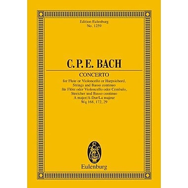 CONCERTO FOR FLUTE OR VIOLONCELLO OR HARPSICHORD STRINGS AND BASS A MAJOR STUDY SCORE (Edition Eulenburg), New (9783795761073)