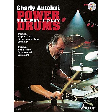 POWER DRUMS TRAINING TIPS AND TRICKS FOR ADVANCED DRUMMERS BOOK/CD, New Book (9790001128995)