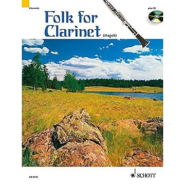 FOLK FOR CLARINET FOR 1-2 CLARINETS BOOK/CD, New Book (9790001134095)
