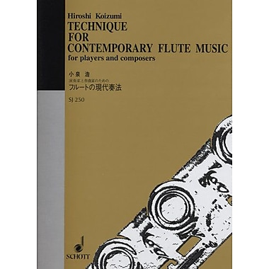 TECHNIQUE FOR CONTEMPORARY FLUTE MUSIC, New Book (9784890662500)