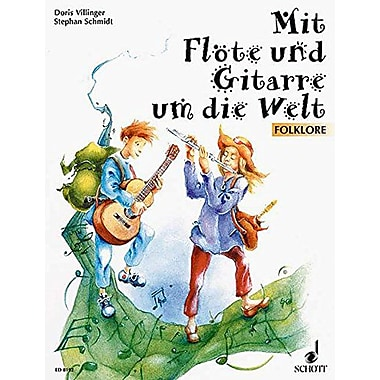 FOLKLORE FOR GUITAR AND FLUTEMIT FLOTE UND GITARRE UM DIE WELT (German Edition), Used Book (9790001083867)