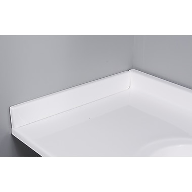 Imperial 22'' X 3'' Left Hand Side Splash in Solid White