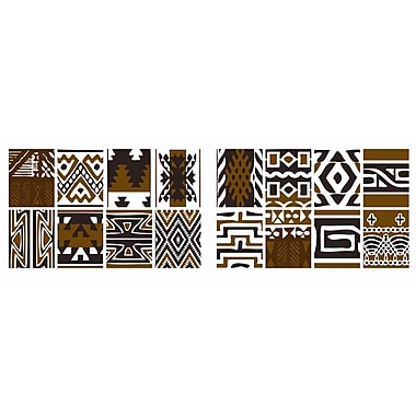 Brewster Home Fashions Euro Tribal 16 Piece Wall Decal Set
