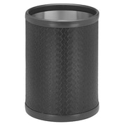 Kraftware San Remo 2 Gallon Waste Basket; Black