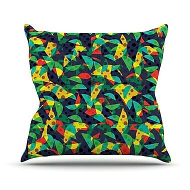 KESS InHouse Fruit and Fun Throw Pillow; 16'' H x 16'' W