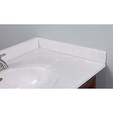 Imperial 22'' X 3'' Right Hand Side Splash in White on White