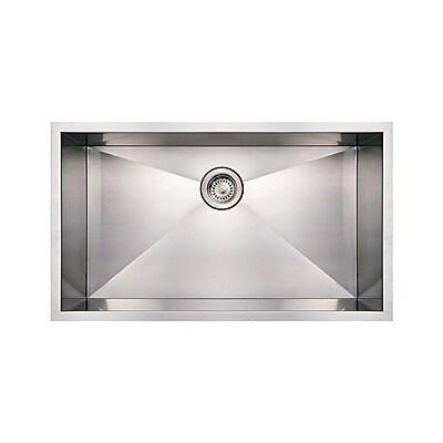 Whitehaus Collection Noah's 32'' x 19'' Commercial Single Bowl Undermount Kitchen Sink