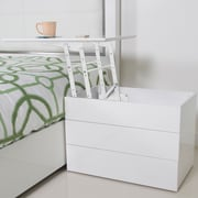 Matrix Kompany White Lacquer Lift-Top Nightstand Side Table