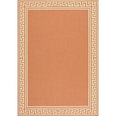 nuLOOM Greek Key Shaun Brick Outdoor Area Rug; 6' 3'' x 9' 2''