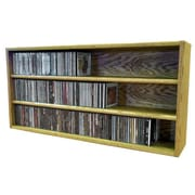 Wood Shed Multimedia Storage Rack; 18.75'' H x 39.43'' W x 6.75'' D