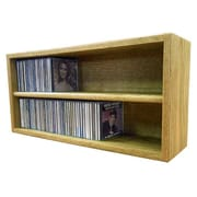 Wood Shed Multimedia Storage Rack; 12.75'' H x 26.87'' W x 6.75'' D