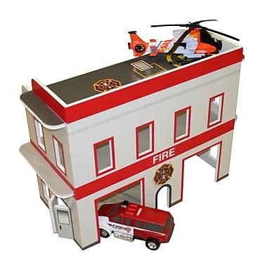 FunDeco Fire Station Dollhouse