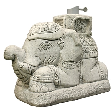 EyeLevel Raja Elephant Patio Umbrella Stand; Gray