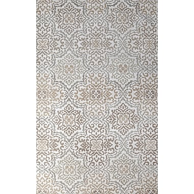 Tuft & Loom Ontario Hand-Woven Ivory/Loden Indoor Area Rug; 5' x 8'