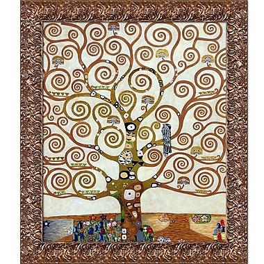 La Pastiche 'Tree of Life Metallic Embellished' by Gustav Klimt Framed Painting Print