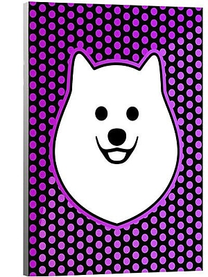 Artzee Designs 'Modern Pomeranian' Graphic Art on Wrapped Canavs; 20'' H x 12'' W x 0.75'' D
