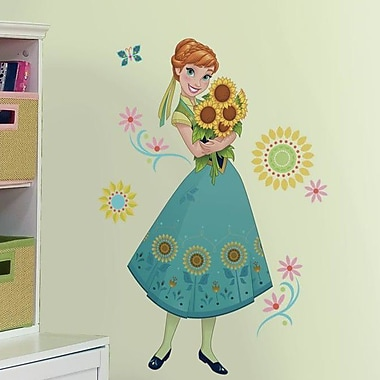 Room Mates Disney Frozen Fever Anna Peel and Stick Giant Wall Decal