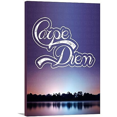 Artzee Designs Modern Quote ''Carpe Diem'' Graphic Art on Wrapped Canvas; 16'' H x 12'' W x 0.75'' D