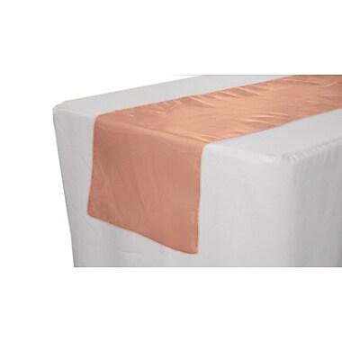 LA Linen Sheer Organza Table Runner; Coral