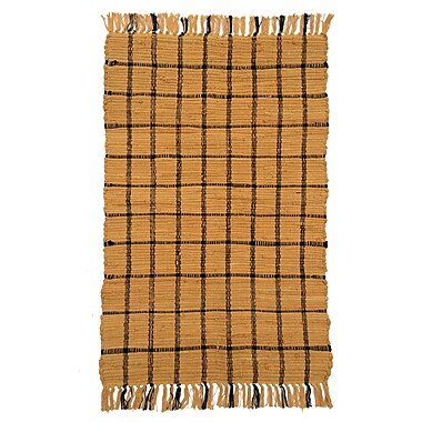 Artim Home Textile Country Amber/Black Area Rug; 2'6'' x 4'2''