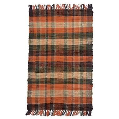 Artim Home Textile Country Tangerine Area Rug; 2'6'' x 4'2''