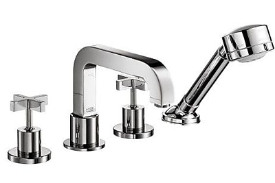 Axor Axor Citterio Two Handle Deck Mounted Roman Tub Faucet w/ Hand Shower; Chrome