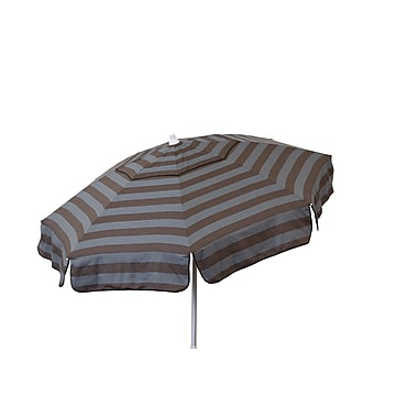 Heininger 6' Beach Umbrella; Steel Grey and Chocolate