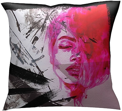 RedNoir Eletaion Throw Pillow; Red/Pink